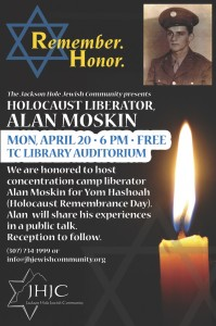 Holocaust Remembrance Day event: WWII liberator, Alan Moskin @ Teton County Library Auditorium | Jackson | Wyoming | United States