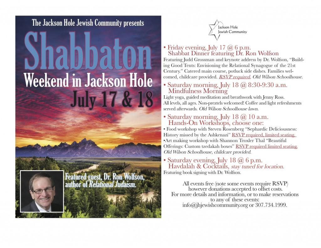 Shabbaton Workshops @ Old Wilson Schoolhouse | Wilson | Wyoming | United States