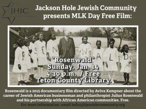 Free Film for MLK Day: Rosenwald @ Teton Co. Library    Jackson   Wyoming   United States